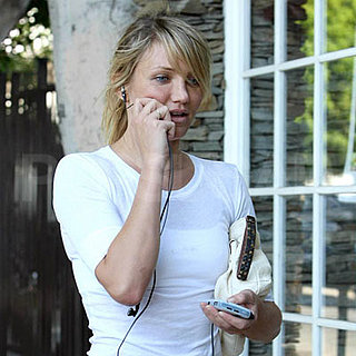 Cameron Diaz On Her Way to Work Out