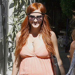 Photo of Pregnant Ashlee Simpson Leaving a Friend's House