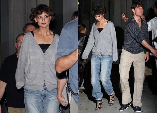 Photos of Katie Holmes and Tom Cruise Leaving the Eli Stone Studio