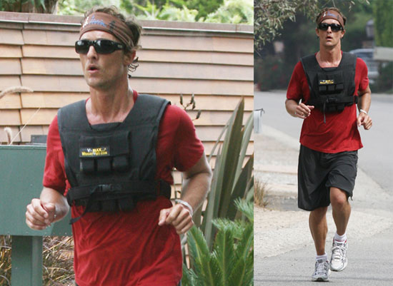 Photos of New Dad Matthew McConaughey Out For a Jog