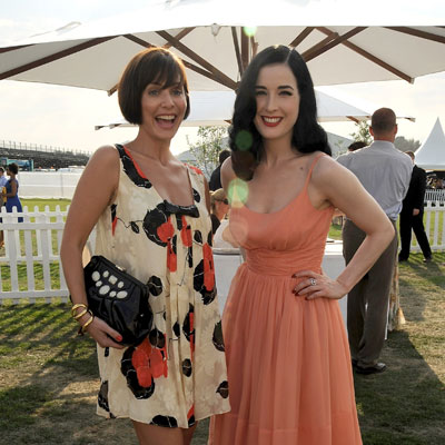 Dita von Teese and Natalie Imbruglia At Polo