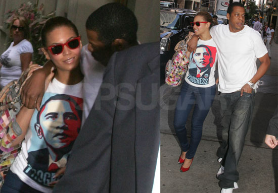 Photos of Beyonce and Jay-Z Walking in NYC