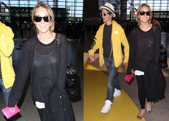 Photos of Lindsay Lohan and Samantha Ronson at LAX 2008-08-11 16:00:00
