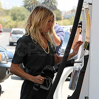 Sienna Miller Gets Gas