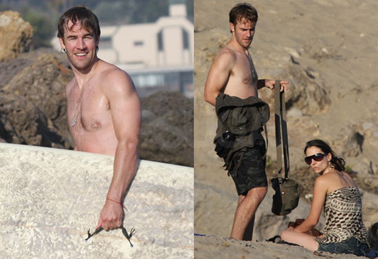 Photos of James Van Der Beek At the Beach
