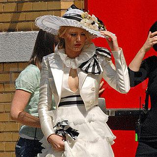 Blake Lively on the Set of Gossip Girl