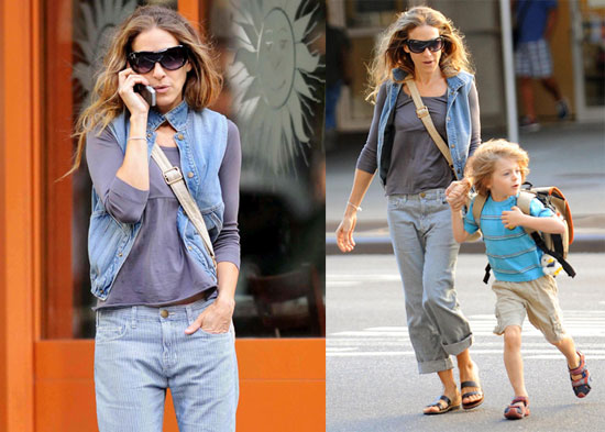 "Photos of Sarah Jessica Parker Wearing ""Barack and Roll"" Vest"