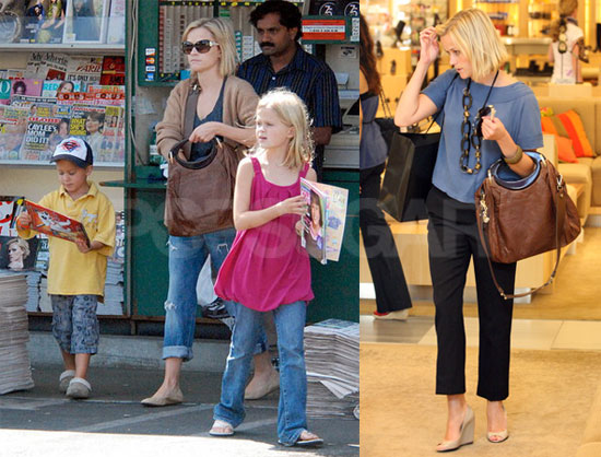 Photos of Reese Witherspoon, Ava Phillippe, Deacon Phillippe in Brentwood
