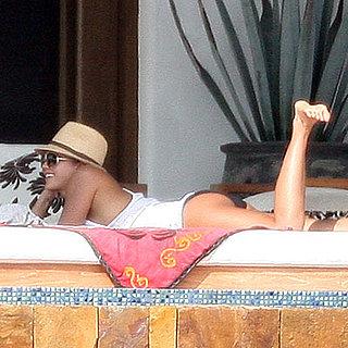 Jessica Alba Lounging in Cabo