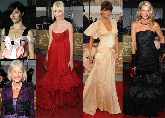 Photos of Taylor Momsen, Christie Brinkley, Parker Posey, Helen Mirren, Helena Christensen at the Opera Opening Night in NYC
