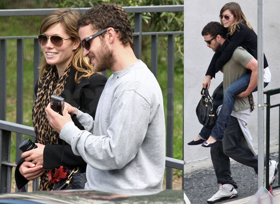 Photos of Jessica Biel Attending Beverly Mitchell's Wedding in Rome, Italy