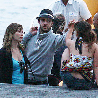 Justin Timberlake and Jessica Biel in Italy