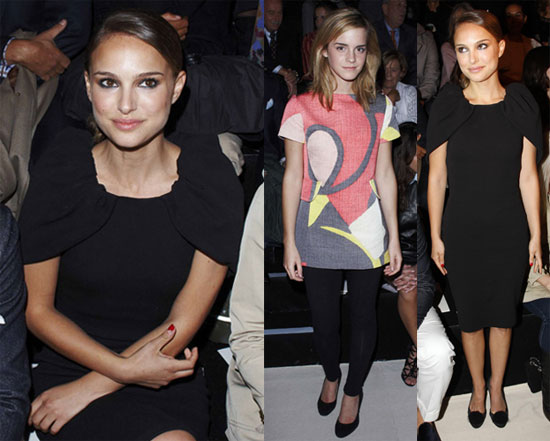 Photos of Natalie Portman and Emma Watson at Giambattista Valli's Paris Fashion Week Show