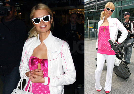 Photos of Paris Hilton at LAX and Heathrow Airports