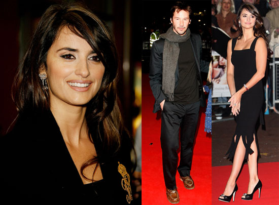 Photos of Penelope Cruz and Keanu Reeves at the 2008 London Film Festival