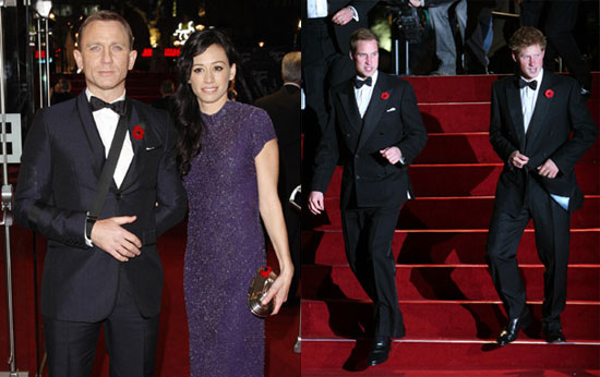 Photos of Royal World Premiere of Quantum of Solace Including Daniel Craig, Prince William, Prince Harry and More