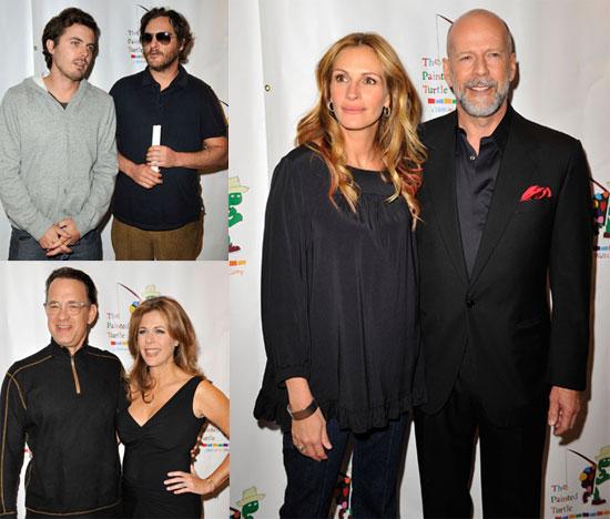 Photos of Celebrities Julia Roberts, Bruce Willis, Tom Hanks, Casey Affleck, Joaquin Phoenix