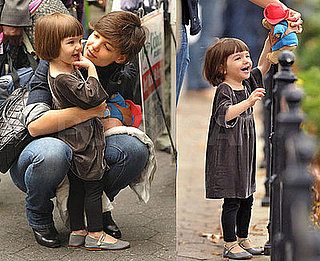 Photos of Katie Holmes and Suri Cruise in NYC 2008-11-07 16:00:00