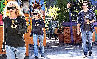 Photos of Ashley Olsen and Justin Bartha Grabbing Coffee in LA