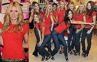 Photos of Heidi Klum and Victoria's Secret Angels in Miami