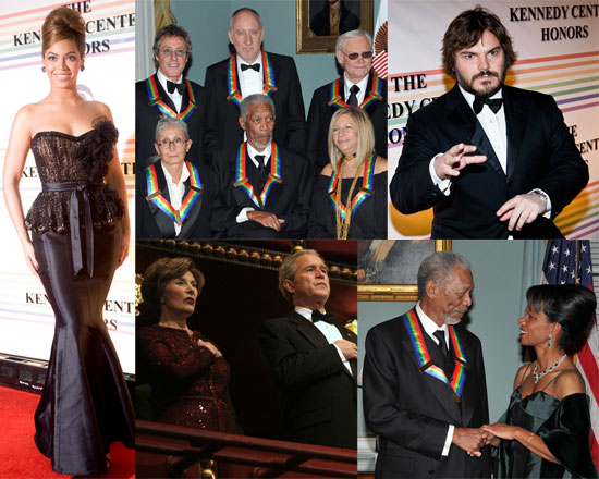 Photos of Beyonce Knowles, George Bush, Barbra Streisand, Morgan Freeman at Kennedy Center Honors