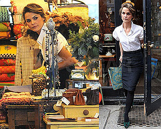 Photos and Video of Keri Russell on The View and Shopping