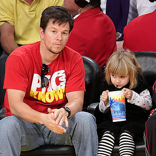 Mark Wahlberg and Daughter Ella at the Lakers Game