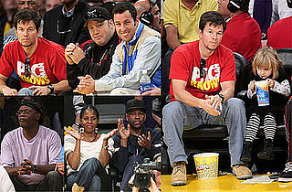 Photos of Mark Wahlberg at the Christmas Lakers Game