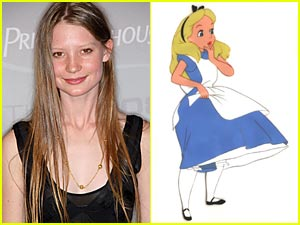 Mia Wasikowska is Alice in Wonderland