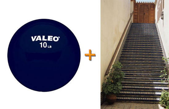 Green Exercise: Run Stairs With a Medicine Ball