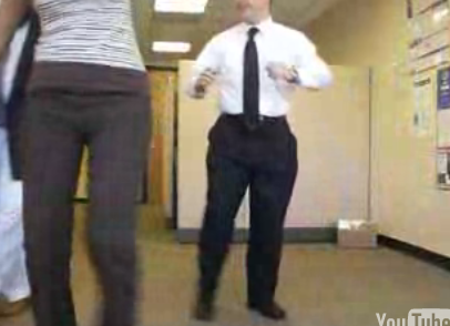 Entire Office Does the Electric Slide Dance