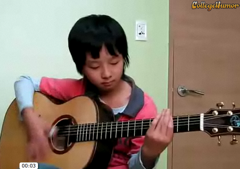 "Awesome 11-Year-Old Rocks ""Smells Like Teen Spirit"""