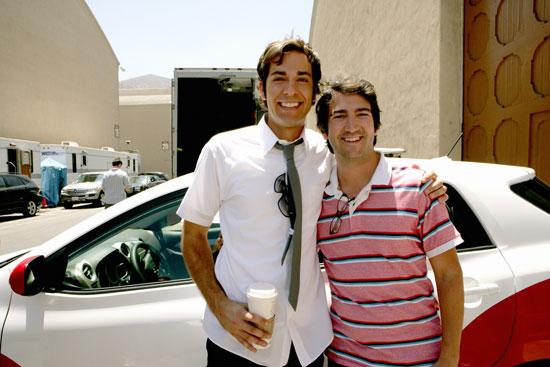 Set Visit to Chuck with Josh Schwartz and Zachary Levi at TCA Press Tour