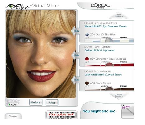 "IBM Debuts ""Virtual Mirror"" Kiosks For Hair and Makeup Help"