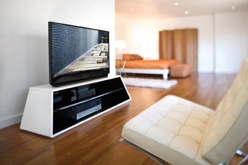 Karim Rashid Prism 50 is Modern, Beautiful Media Stand