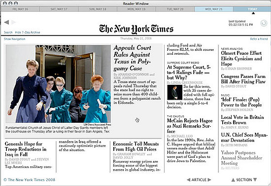 Mac Users: Get the NY Times Reader For Free!