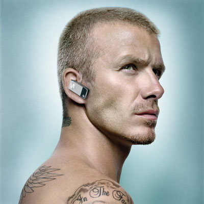 David Beckam Is a Fan of Motorola's Motopure H12 Bluetooth Headset