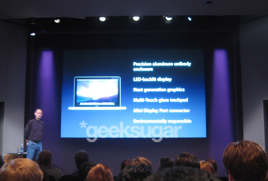 Steve Jobs Announces New, Cheaper MacBooks at Fall 2008 Apple Event