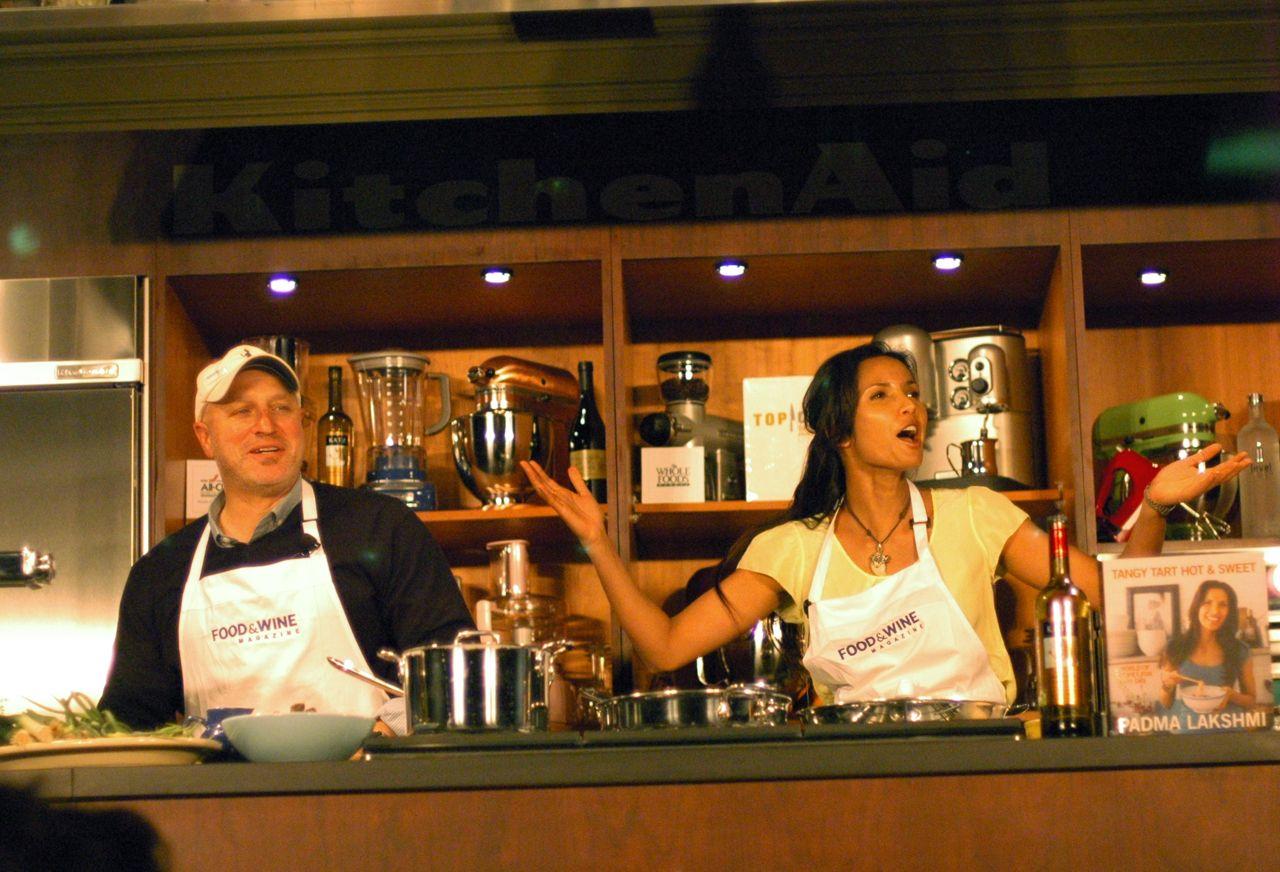 Tom and Padma getting flirtatious.