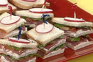 Italian Club Finger Sandwiches