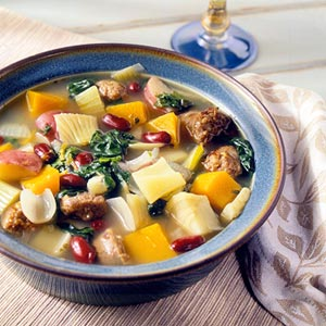Sunday Slow Cooker: Minestrone With Squash & Pork Sausage