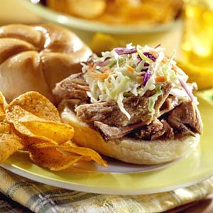 Sunday Slow Cooker: Pork and Slaw Barbecue Rolls