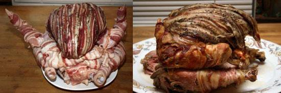 Bacon-Wrapped Turducken