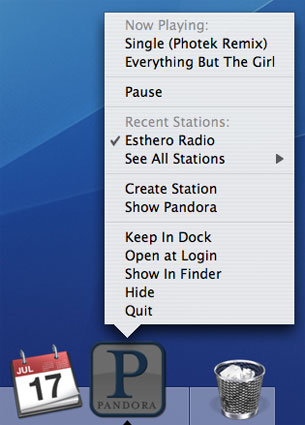 Launch Pandora Right From Your Desktop