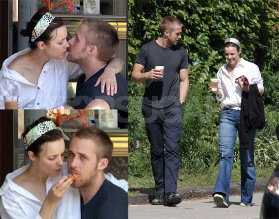 OMG! Ryan Gosling and Rachel McAdams Kissing at Lunch!
