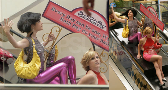 Photos of Selma Blair and Molly Shannon in a Mall Filming Kath and Kim