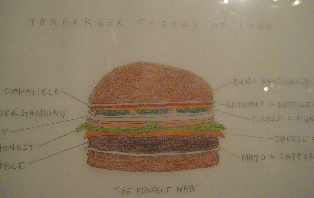 Do hamburgers and love have anything in common? Apparently they do! In this hysterical piece of art, the Hamburger Theory of Love is described.