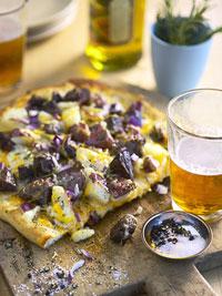 Monday's Leftovers: Steak and Potato Pizza