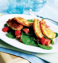 Fast & Easy Dinner: Arugula and Fried Mozzarella Salad