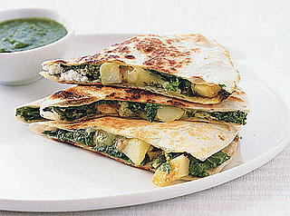 Fast & Easy Dinner: Potato, Greens, and Goat Cheese Quesadillas